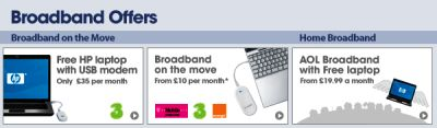 Mobile Broadband & Free Laptop Offers