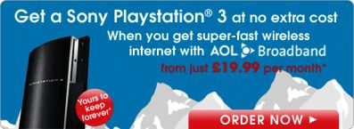 AOL Broadband Free PlayStation 3