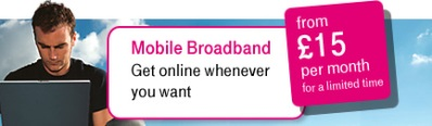 T-Mobile Broadband For Laptops, Now £15 A Month