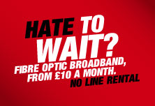 Virgin Broadband £10 Per Month Offer, No Phone Line Rental Required