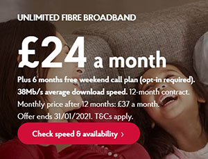 Post Office Broadband Deals