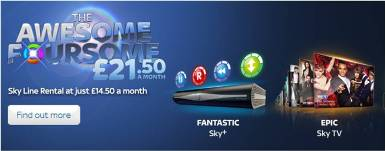 Sky Awesome Foursome Deal