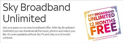 Evolve to Sky Broadband Unlimited