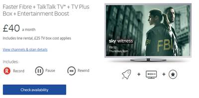 TalkTalk TV Plus With 30 Extra TV Channels