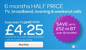 TalkTalk Hottest Half Price Event