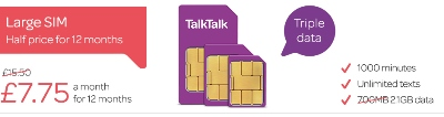 TalkTalk SIM Flash Sale